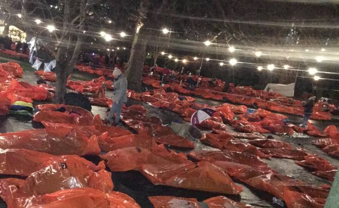 Subzero Temps Bring A Harsh Reality to Homeless Plight at Sleep in the Park Event